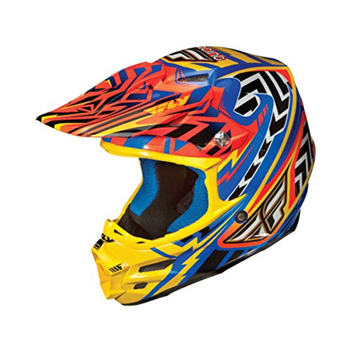 Fly Racing Replacement Visor for F2 Carbon Andrew Short Signature Helmet Orange Blue Yellow One Size