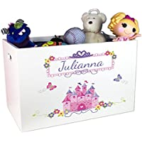 Girl's Personalized Princess Toy Box