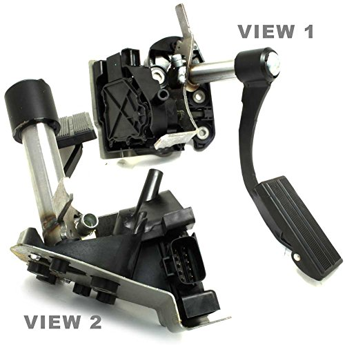 APDTY 112551 Accelerator Pedal Assembly Adjustable Type With APPS Position Sensor For 2003-2005 Ford Excursion / 2003-2004 Ford F250 / 2003-2004 Ford F350 (Replaces Ford 3C3Z-9F836-BA, 3C3Z9F836BA)