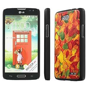 NakedShield LG Optimus L90 (Leaves Texture) SLIM Art Phone Cover Case