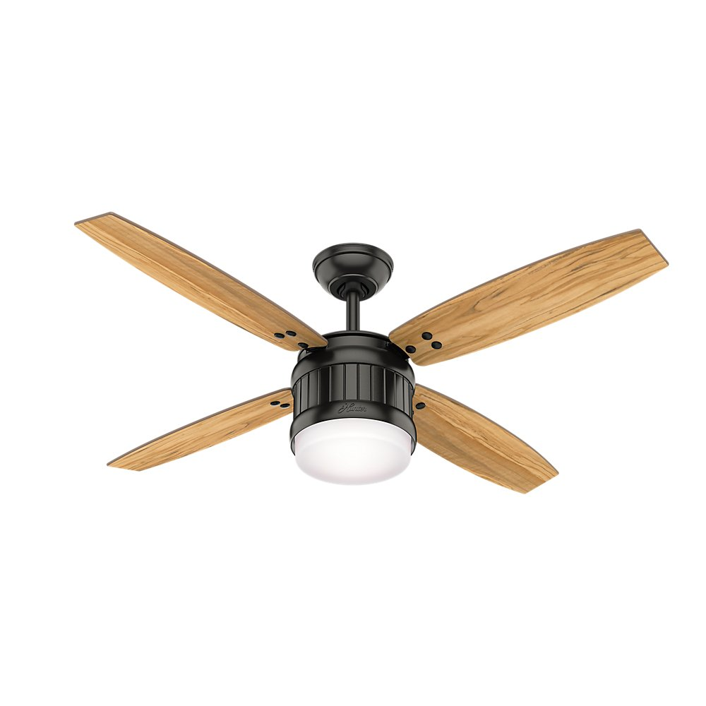 Hunter 59315 Seahaven Ceiling Fan Hunter Light with Handheld Remote, 52 , Noble Bronze
