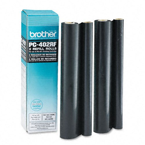 Brother Part# PC-402RF OEM Refill Ribbon Rolls 2Pack - 150 Pages Ea.