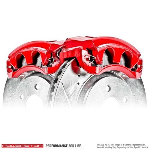 Power Stop S3302 Performance Brake Calipers w/Brackets Pair Performance Brake Calipers w/Brackets