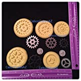 Steampunk Gear 5 Piece Fondant Mold Set Chocolate Candy Gumpaste Soap Resin Clay