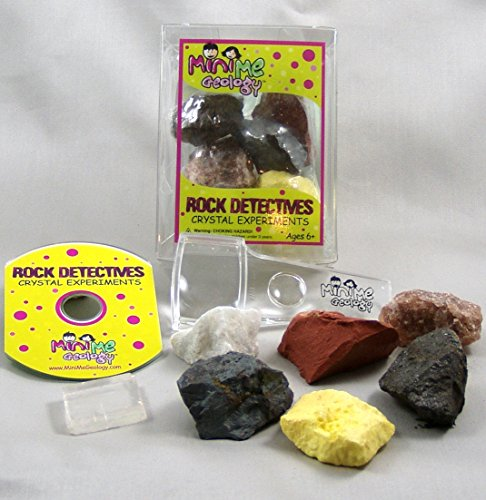 Mini Me Geology Crystal Experiments Rock Detectives Kit - Minerals Collection with E-book