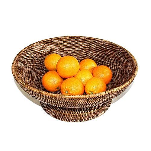 Saffron Trading Company Fruit Basket Round Pedestal - Antique Brown