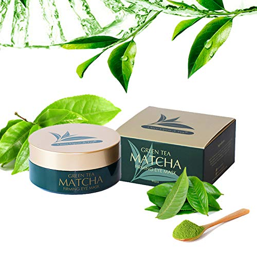 51aRQaaH7FL - Green Tea Matcha Firming Eye Mask, 30 Pairs Collagen Patches For Fine Lines, Wrinkles, Under Eye Bags & Puffy Eyes Treatment, Face Anti-Aging Gel Pads, Facial Dark Circles & Tired, Saggy Skin Care