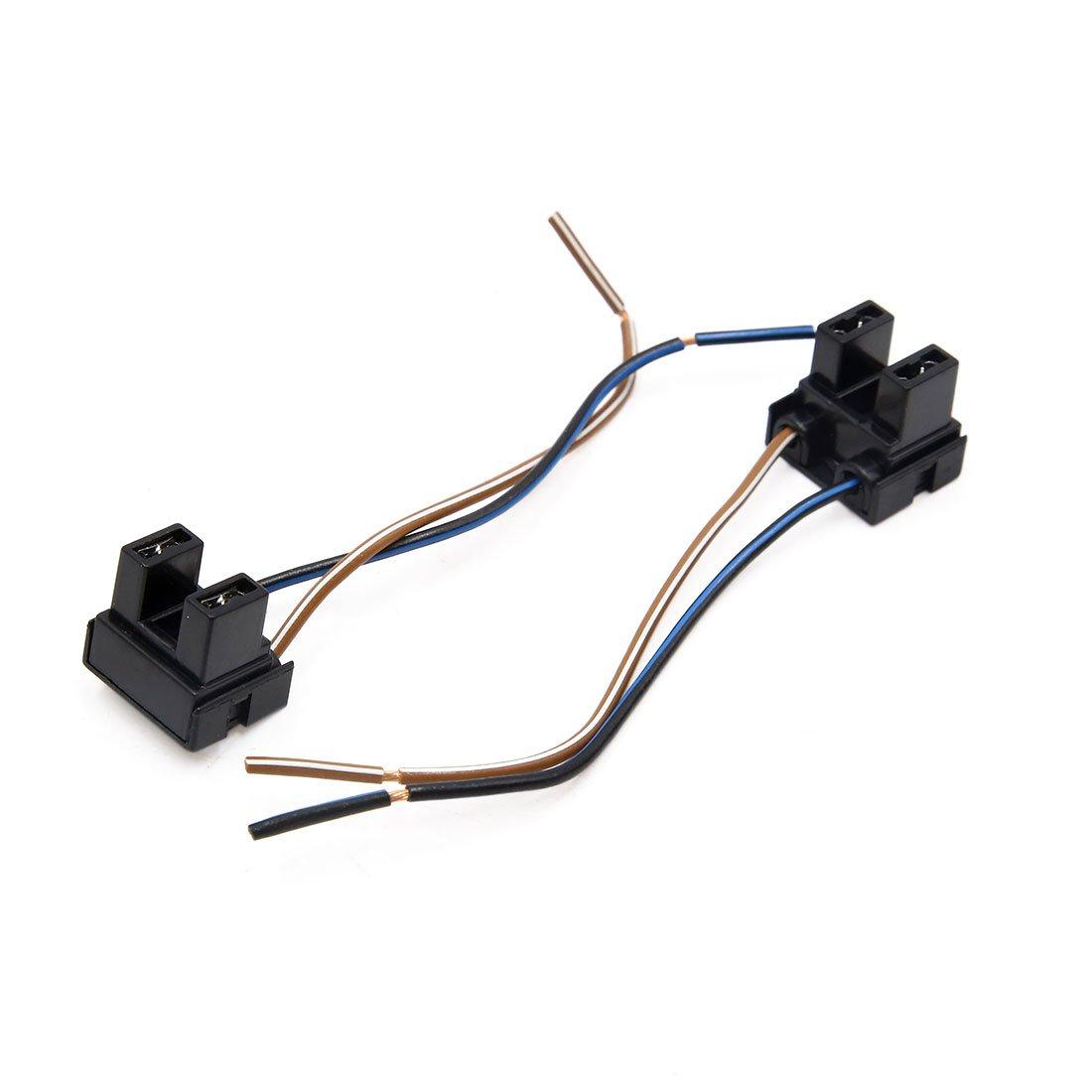 sourcing map 4pcs H7 Ampoule Brouillard Faisceau rallonge Auto Adaptateur Connecteur Femelle