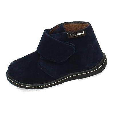 D HEYMAR 8081 BOTÍN Serraje Azul NIÑO Botas-Botines: Amazon.es: Zapatos y complementos