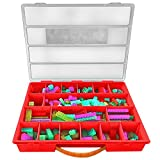 Life Made Better Toy Storage Organizer - Compatible With Lego Building Bricks - Durable Carrying Case- Red