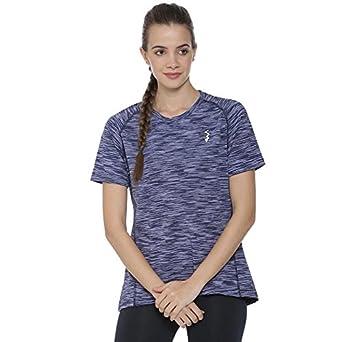 73987f72e90 Campus Sutra Striped Women Round Neck Purple T-Shirt