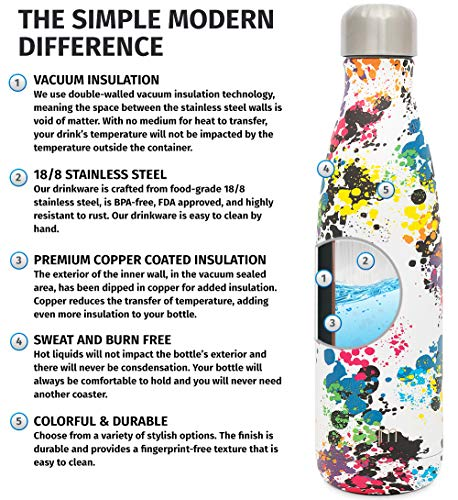 233b7c9d35 ... Simple Modern 25oz Wave Water Bottle - Stainless Steel Double Wall  Vacuum Insulated Metal Reusable ...