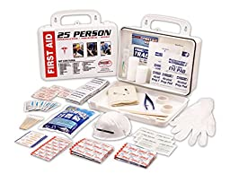 Rapid Care First Aid 166 piece 25 person ANSI/OSHA Poly First Aid Kit