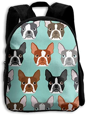 The Children`s Cute Boston Terriers Pets Dogs Backpack / The Children`s Cute Boston Terriers Pets Dogs Backpack
