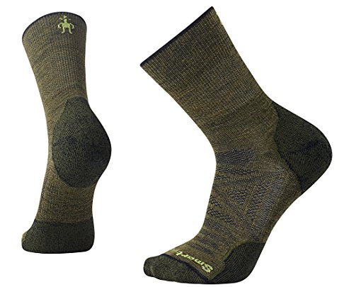 SmartWool PhD Outdoor Light Mid Crew Socks (Loden) Large (Green Wool Loden)