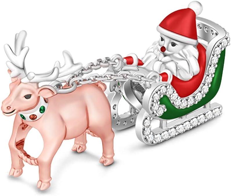 Argent Sterling 925 le traîneau du Père Noël Charme Made in USA