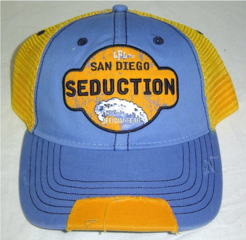 LFL Lingerie Football League San Diego Seduction Distressed Mesh Trucker Snapback - Lfl Shop