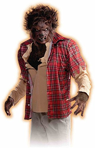 Werewolf Shirt Costume Adult Size Standard Red