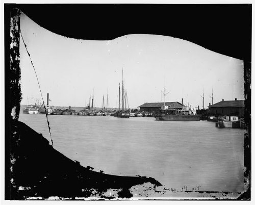 Photo: Inventory boats,wharfAquia Creek Landing,Virginia,VA,United States Civil War,1863