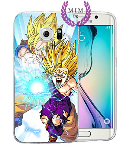 Samsung Instinct Silicone Case (Dragon Ball Z Super GT Samsung Cases Covers - Ultra Instinct - Goku Blue - Vegeta Blue - Gohan - Goku Rose - MIM UK (S8 Plus, Father Son))