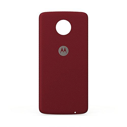 (Motorola Phone Case for Moto Z, Force - Crimson Ballistic Nylon Fabric)