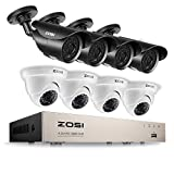 ZOSI Full HD 1080P Security Camera System 8CH Surveillance Recorder DVR (8) 2.0MP Bullet & Dome Surveillance Cameras, Outdoor Indoor Using, Quality Night Vision, Smartphone & PC Remote Viewing Review