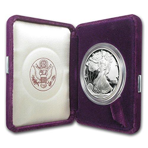 1990 S 1 oz Proof Silver American Eagle (w/Box & COA) 1 OZ Brilliant Uncirculated