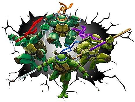 TMNT Teenage Mutant Ninja Turtles de pared Crack ...