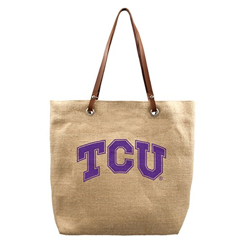 NCAA TCU Horned Frogs Burlap Market Tote