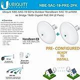 Ubiquiti NBE-5AC-19 PRECONFIGURED NanoBeam 5 ac Bridge 5GHz airMAX 19dBi (2PACK)