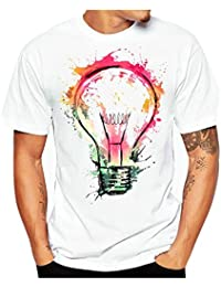 Men Tees, Clearance Sale Vintage Big Tall Graphic Short Sleeve T-Shirt Tee Shirt
