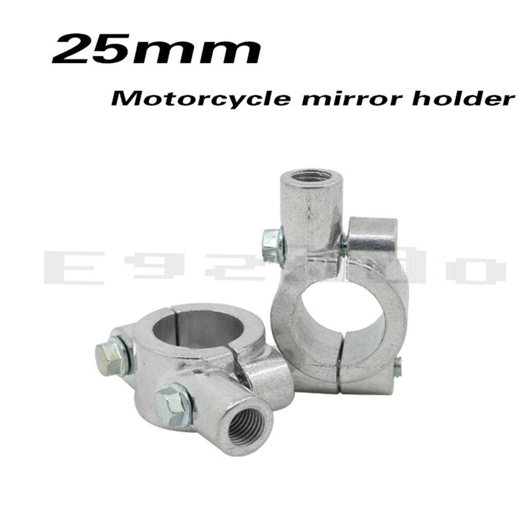 Pair Black 8mm Thread Dia Handlebar Mirror Mount Bracket Clamp for Motorcycle