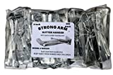 Quick Screw 5'' 100 Pack Heavy Duty Hidden Rain Gutter Bracket Hook hangers With Clip …