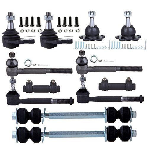 ECCPP Ball Joint Sway Bar Link Tie Rod End Adjusting Sleeve for 88-95 Chevrolet K1500 2500 (12Pcs)
