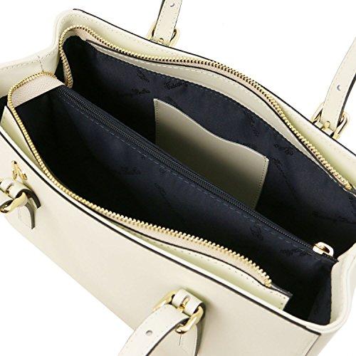 Tuscany Leather Aura Borsa a mano in pelle Avorio Avorio