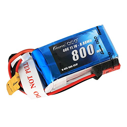 Gens ace 3S 800mAh 11.1V 40C LiPo Battery Pack with JST Plug for 200 250 Heli 800mm Warbirds Eflite Blade CP CP Pro Helicopter Compare to E-flite EFLB8003SJ30 ()