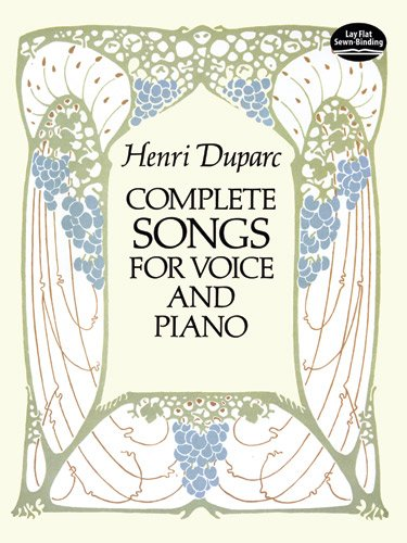 Complete Songs for Voice and Piano (Dover Song Collections) [Duparc, Henri] (Tapa Blanda)