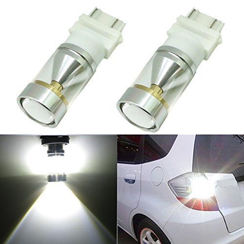 Alla Lighting Genuine CREE XB-D 3157 3156 T20 Xtremely Super Bright 6000K White LED Lights Bulbs for Auto Turn Signal Backup Reverse Brake Tail Lights Bulbs Lamp Replacement (3156/3157)