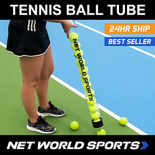 Tennis Ball Pick Up Tube – Ball Collector Holds 15 Tennis Balls! [Net World Sports] – DiZiSports Store