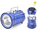 SaleOn Lantern LED Solar Emergency Light Bulb With Mobile Charging Facility-023 (Blue)