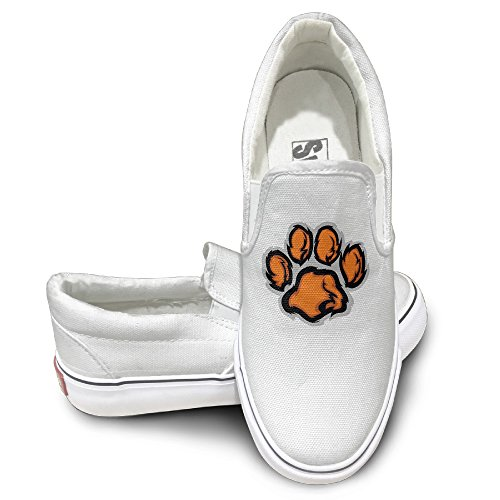 [CAPA Unisex Athletic Shoes Tiger Paw Flat Canvas Sneaker 35 White] (Ricky's Pirate Costumes)
