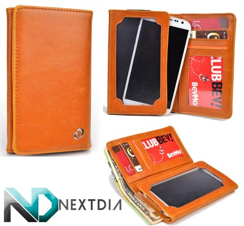 unisex-mens-bifold-wallet-case-huawei-activia-4g-universal-fit-tigers-eye-orange-with-viewing-screen