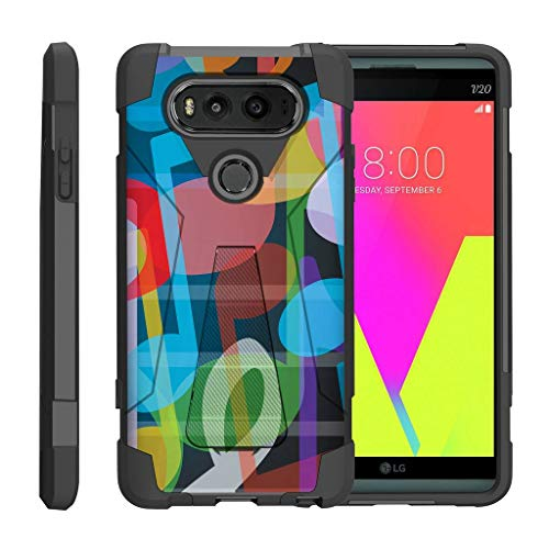 TurtleArmor | Compatible for LG V20 Case [Dynamic Shell] Absorber Impact Shock Shell Cover Hybrid Gel Hard Kickstand Music Design - Colorful ()