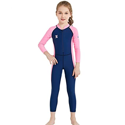 3a8620484b8 DIVE   SAIL Girls Long Sleeve Swimsuit Rash Guard Sets Surf Suits Kids UV Sun  Protection