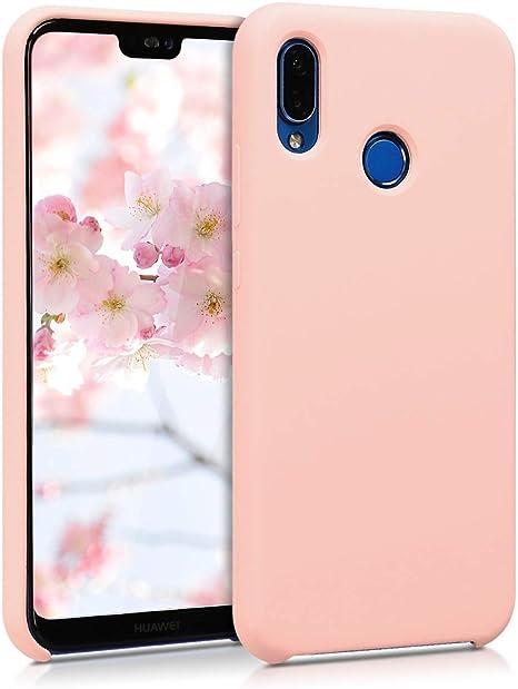 kwmobile Coque Compatible avec Huawei P20 Lite - Coque Étui Silicone - Housse de téléphone Rose Ancien Mat