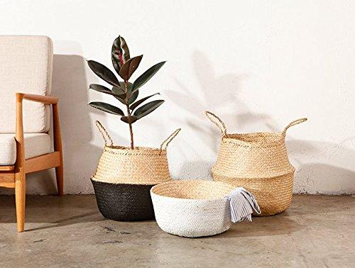 GRAS dipped white or black seagrass belly basket/ nursery decor/Wholesales bulk/laundry picnic storage basket/ belly basket storage/ -