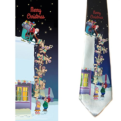 Stonehouse Collection Men's Funny Christmas Tie - Merry Christmas Necktie