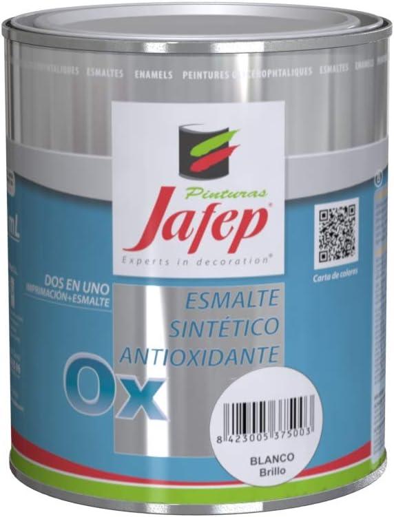JAFEP Esmalte Antioxidante Ox Efecto Forja Liso Gris 750 Ml