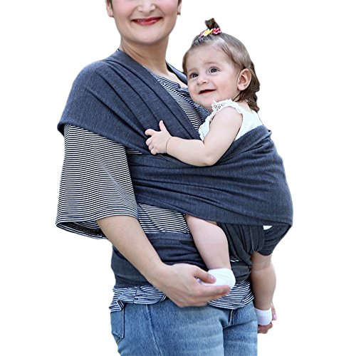 Baby Wrap Carrier Cotton Slings Carrier Super Wide and Long DIY Sack Bag Travel Straps Supplies Black ()