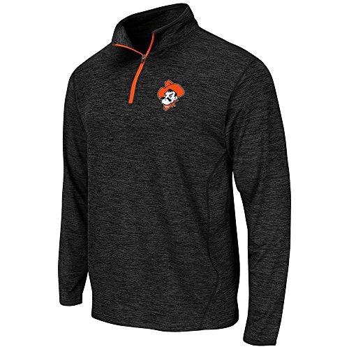 Mens NCAA Oklahoma State Cowboys Action Pass Long Sleeve Quarter Zip Tee Shirt - L